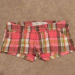 Hollister plaid shorts, size 3